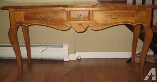 Well Known Ethan Console Tables Intended For Surprising Regarding Ethan Allen French Oak Sofa Table/ Console For (Image 25 of 25)