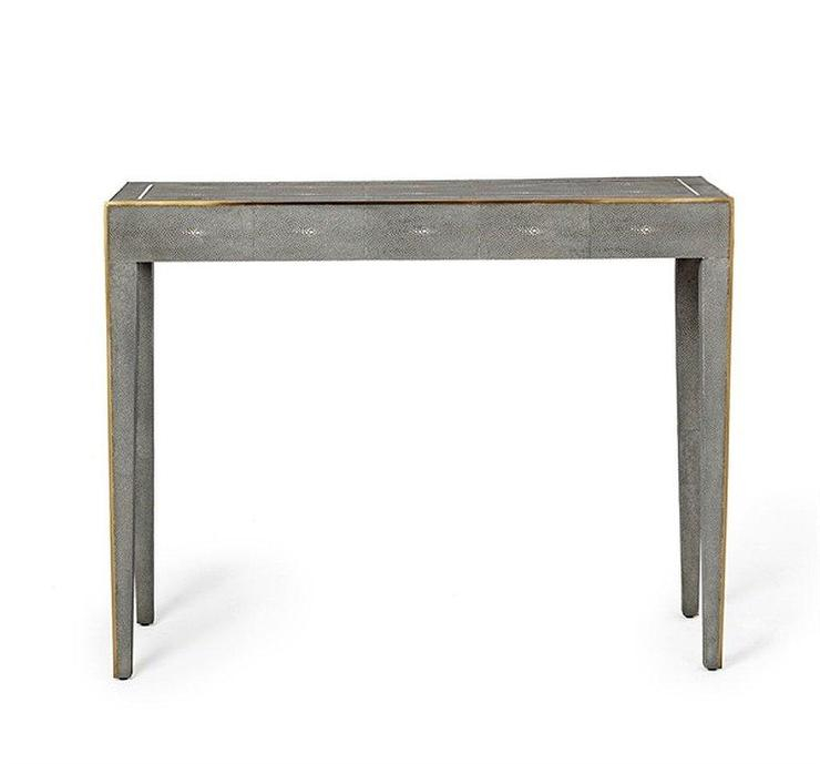 Well Known Faux Shagreen Console Tables Within Emilee Shagreen Console Desk (View 6 of 25)