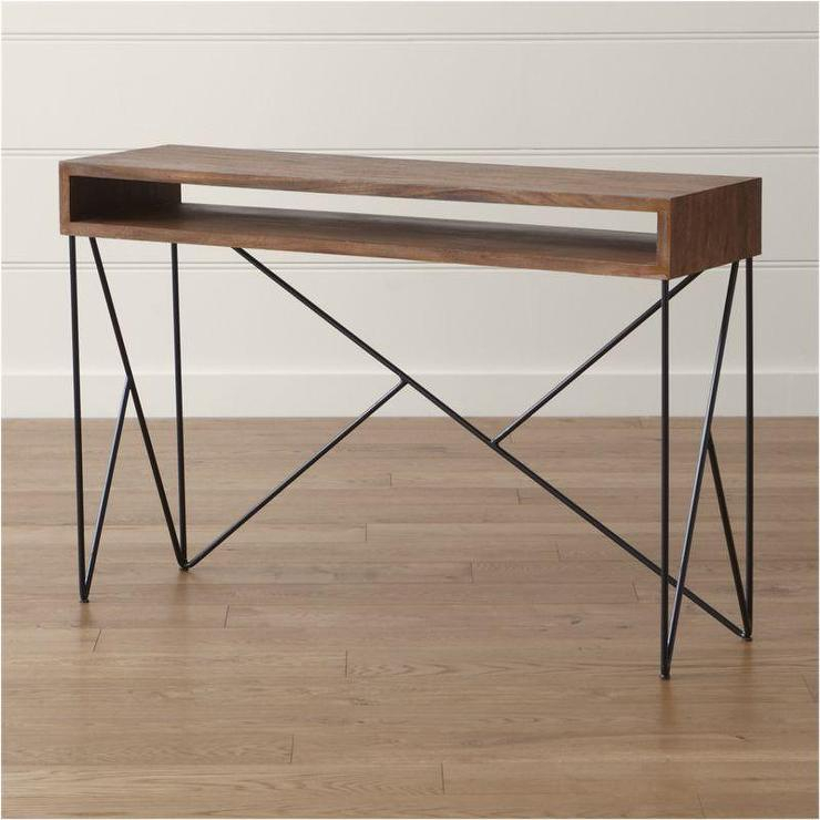 Well Known Frame Console Tables Within Brown Dixon Console Table (View 2 of 25)
