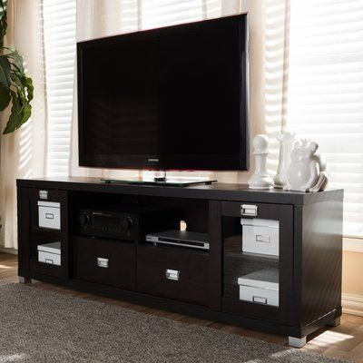 "Well Known Glass Front Tv Stands Intended For Hallstead 70"" Tv Stand (View 14 of 25)"