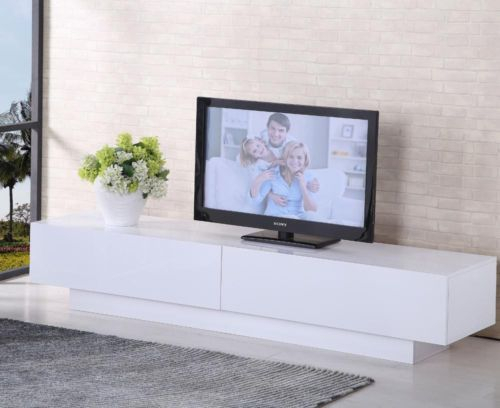Well Known Gloss White Tv Cabinets Within Tv Cabinet White Or Black Entertainment Unit Stand Gloss Led Lowline (Image 20 of 25)