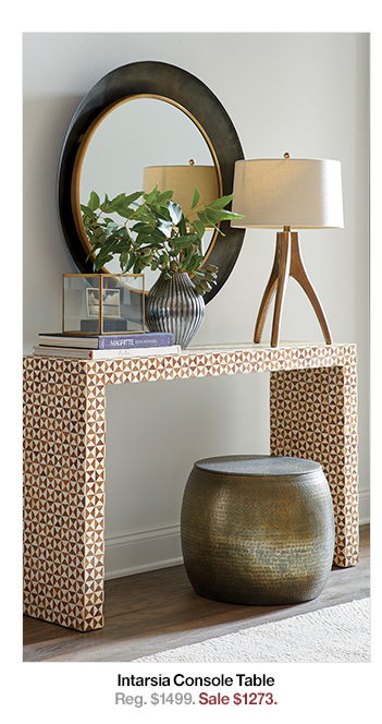 [%Well Known Intarsia Console Tables Within Crate And Barrel: The Accent Table Sale Starts Now: Up To 20% Off|Crate And Barrel: The Accent Table Sale Starts Now: Up To 20% Off For Recent Intarsia Console Tables%] (Image 1 of 25)
