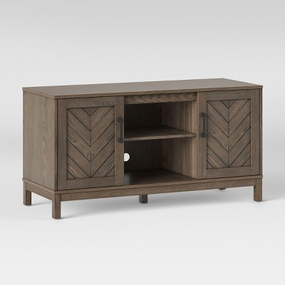 Well Known Lauderdale 62 Inch Tv Stands Regarding Eastford V Pattern Tv Stand Brown – Threshold (Image 22 of 25)