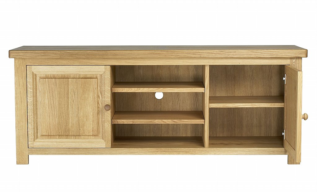 Well Known Natural 2 Door Plasma Console Tables Intended For Charltons Furniture – Bretagne Plasma Tv Unit (Image 24 of 25)