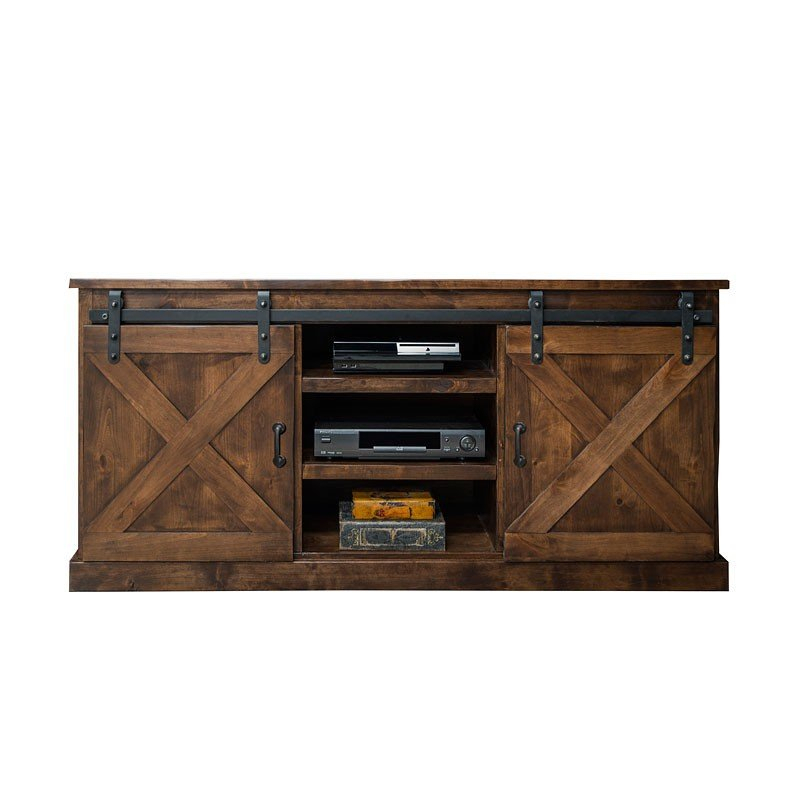 Well Known Noah Aged Whiskey 66 Inch Tv Stands Intended For Farmhouse 66 Inch Tv Console (Aged Whiskey)Legends Furniture (View 2 of 25)