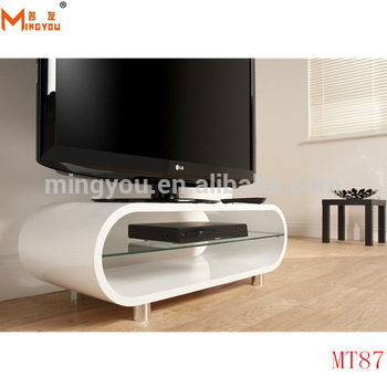 Featured Photo of Oval White Tv Stand