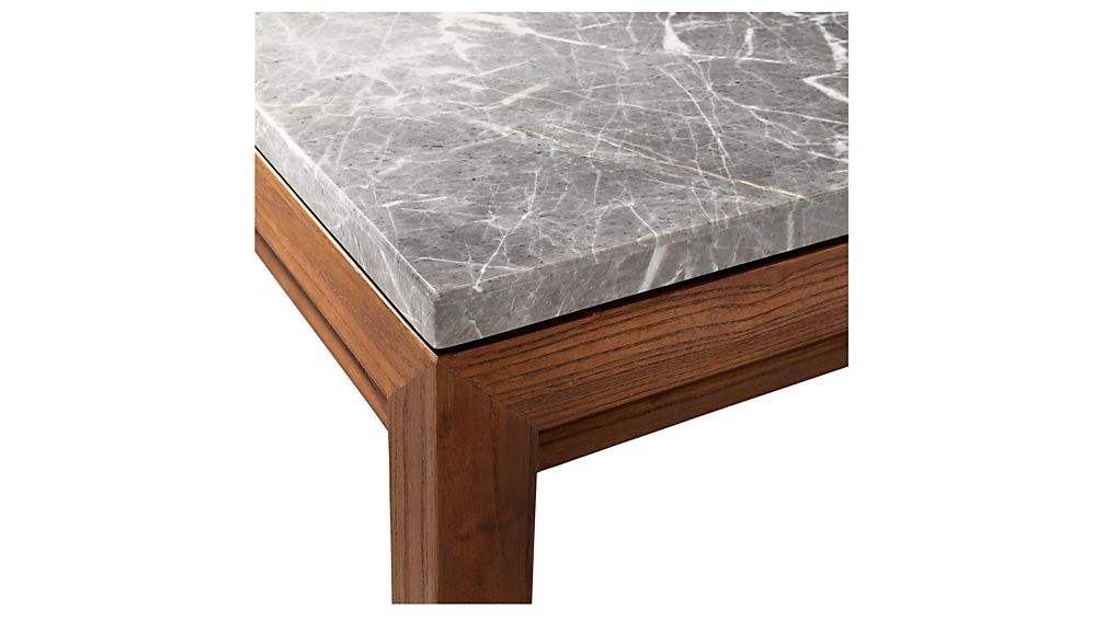 Well Known Parsons Black Marble Top & Brass Base 48X16 Console Tables With Parsons Grey Marble Top/ Elm Base 48X16 Console + Reviews (View 14 of 25)