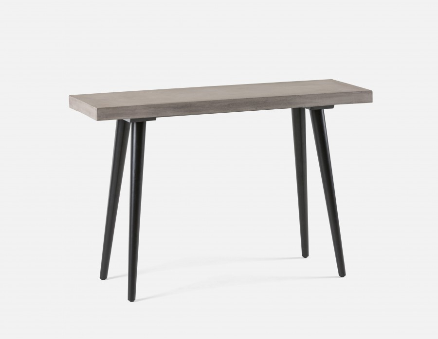 Well Known Parsons Concrete Top & Brass Base 48X16 Console Tables Throughout Concrete Top Console Table Monumental Parsons Dark Steel Base 48X (Image 22 of 25)