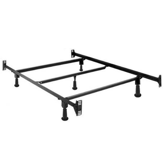 Well Known Parsons Concrete Top & Dark Steel Base 48X16 Console Tables Within Full Size High Rise Bed Frame (View 17 of 25)