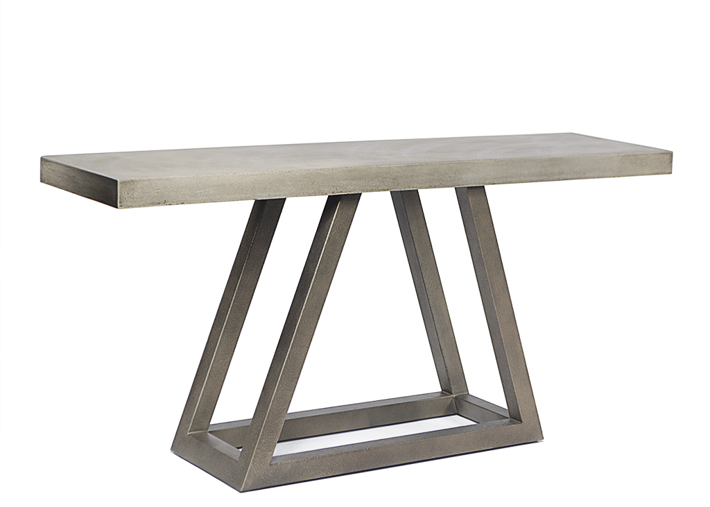 Well Known Parsons White Marble Top & Stainless Steel Base 48X16 Console Tables Within Concrete Top Console Table Stunning Parsons Dark Steel Base 48X (Image 23 of 25)