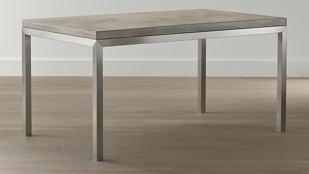 Well Known Parsons White Marble Top & Stainless Steel Base 48X16 Console Tables Inside Concrete Parsons Console Table — Terrariumtvshows (Image 24 of 25)