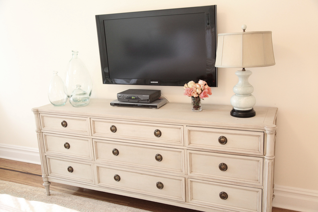 Well Known Sinclair Blue 74 Inch Tv Stands In Tv Above Dresser In Bedroom. Great Idea (Image 19 of 25)