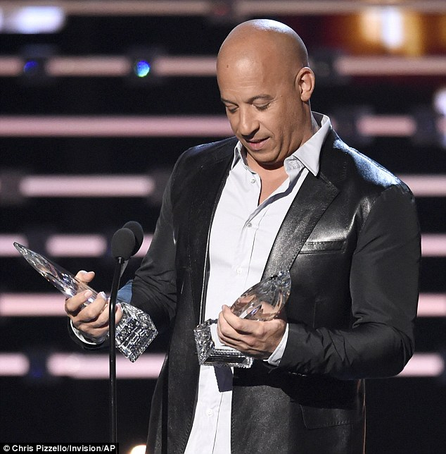 Well Known Sinclair Blue 74 Inch Tv Stands Regarding Vin Diesel Sings For The Late Paul Walker At People's Choice Awards (Image 18 of 25)