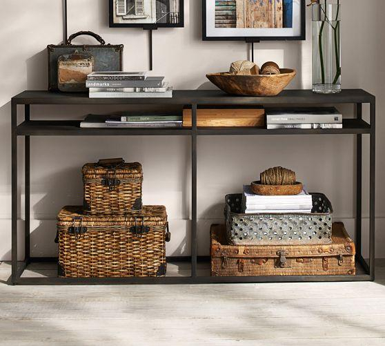 Well Known Ventana Display Console Tables In Iron Frame Minimalist Console Table (Image 24 of 25)