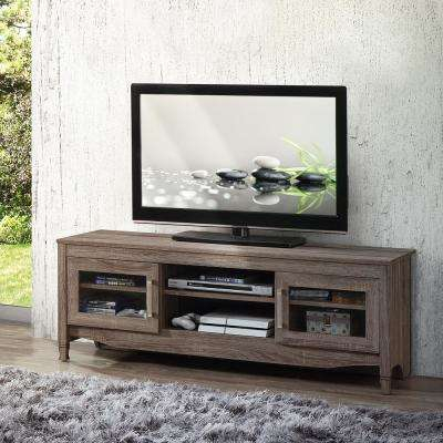Well Liked Abbott Driftwood 60 Inch Tv Stands Intended For Gray – Tv Stands – Living Room Furniture – The Home Depot (Image 24 of 25)