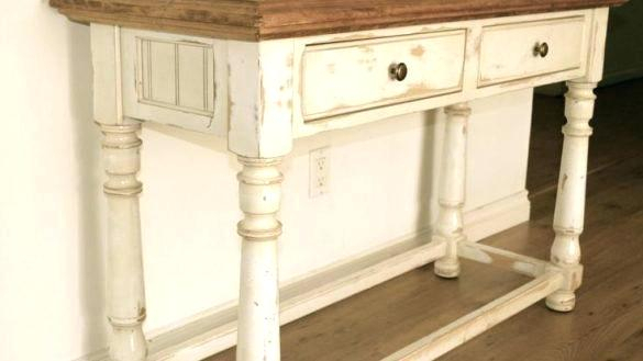 Well Liked Antique White Distressed Console Tables With Regard To Distressed Console Table (Image 21 of 25)