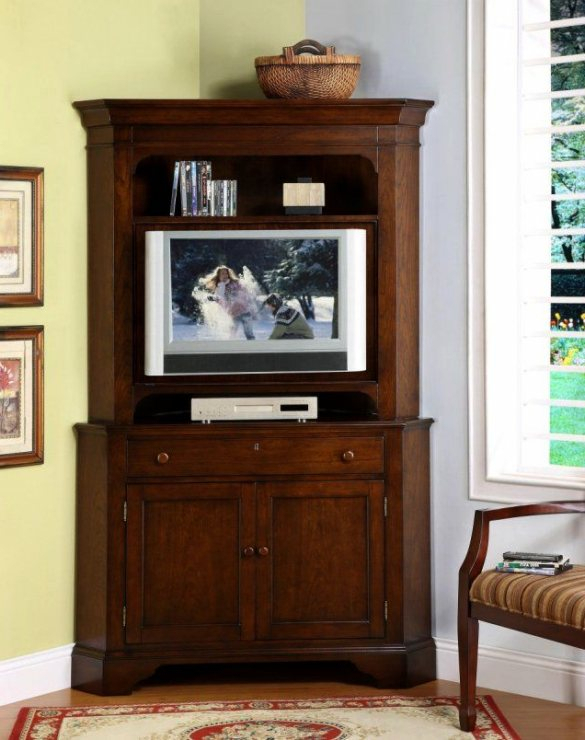 Well Liked Corner Tv Cabinet With Hutch Inside Lovely Corner Tv Hutch #1 Ideas Corner Tv Cabinet And Curio Cabinet (Image 24 of 25)