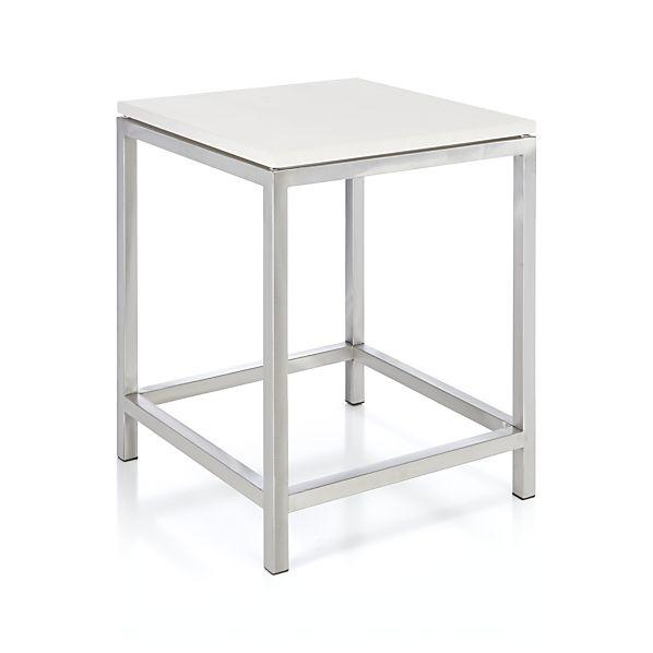 Well Liked Era Limestone Console Tables With Era Limestone Silver And White Side Table (Image 25 of 25)