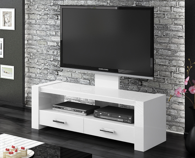 Well Liked Gloss White Tv Cabinets Throughout Monaco White Gloss Tv Stands (View 3 of 25)