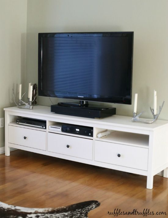 Well Liked Laurent 60 Inch Tv Stands Throughout New And Improved: Our Tv Stand, The Ikea Hemnes! (View 3 of 25)