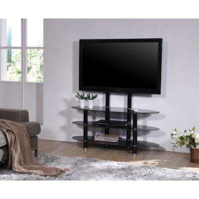 Well Liked Maddy 50 Inch Tv Stands Within Glass – Tv Stands – Living Room Furniture – The Home Depot (View 11 of 25)