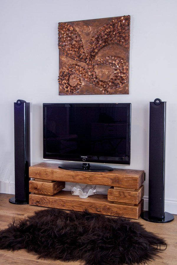 Well Liked Oak Furniture Tv Stands Inside Contemporary Rustic, Minimalistic Chunky Oak Tv Stand – A Truely (Image 25 of 25)