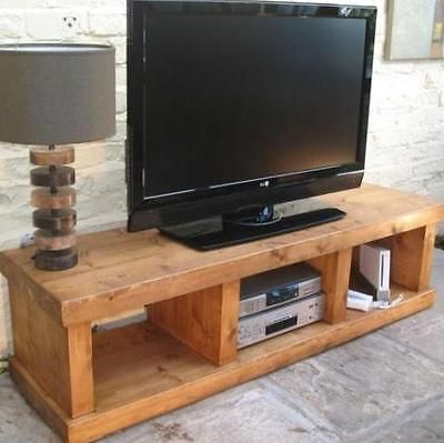 """Well Liked Rustic Furniture Tv Stands Throughout Any Size Made"""" Solid Wood Entertainment Unit Tv Stand Cabinet Rustic (Image 25 of 25)"""