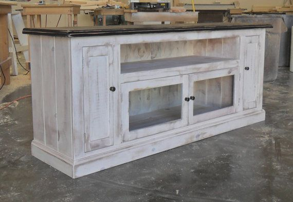 Well Liked Rustic Wood Tv Cabinets Intended For Entertainment Console Cabinet, Tv Stand, Reclaimed Salvaged Solid (Image 23 of 25)