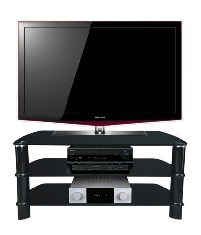 "Well Liked Stil Tv Stands In Stil Stand Black Glass Tv Stand Up To 50"" Stuk2005 Bb (View 4 of 25)"