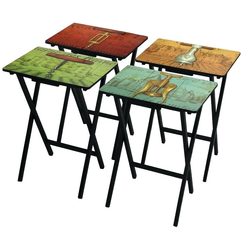 Well Liked Tv Tray Set With Stands For Collapsible Tv Tray Trays With Stand Tray Stand Only Trays Stands (View 9 of 25)