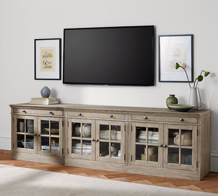 Well Liked Wide Tv Cabinets With Regard To Tv Stands With Glass Doors (Image 25 of 25)