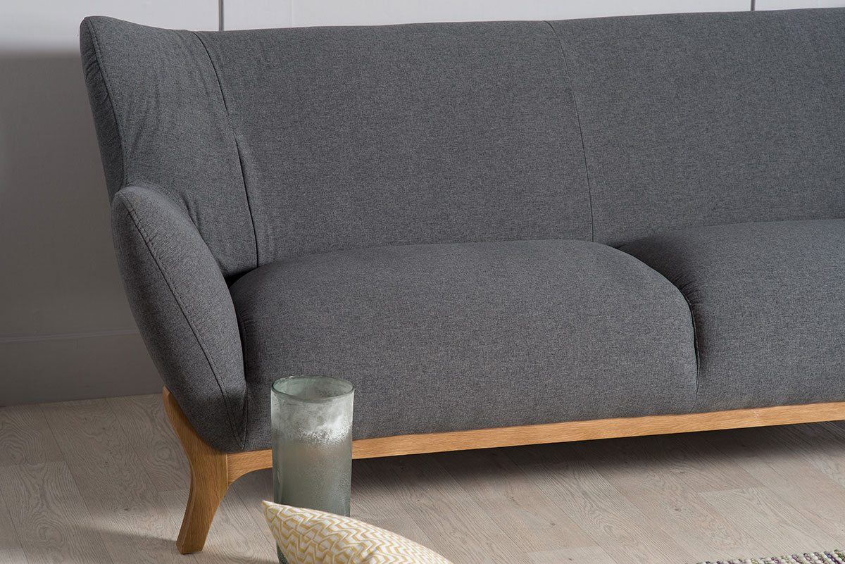 Wesley Dark Grey Three Seater Large Sofa | Bella Casa London Intended For London Dark Grey Sofa Chairs (View 14 of 25)