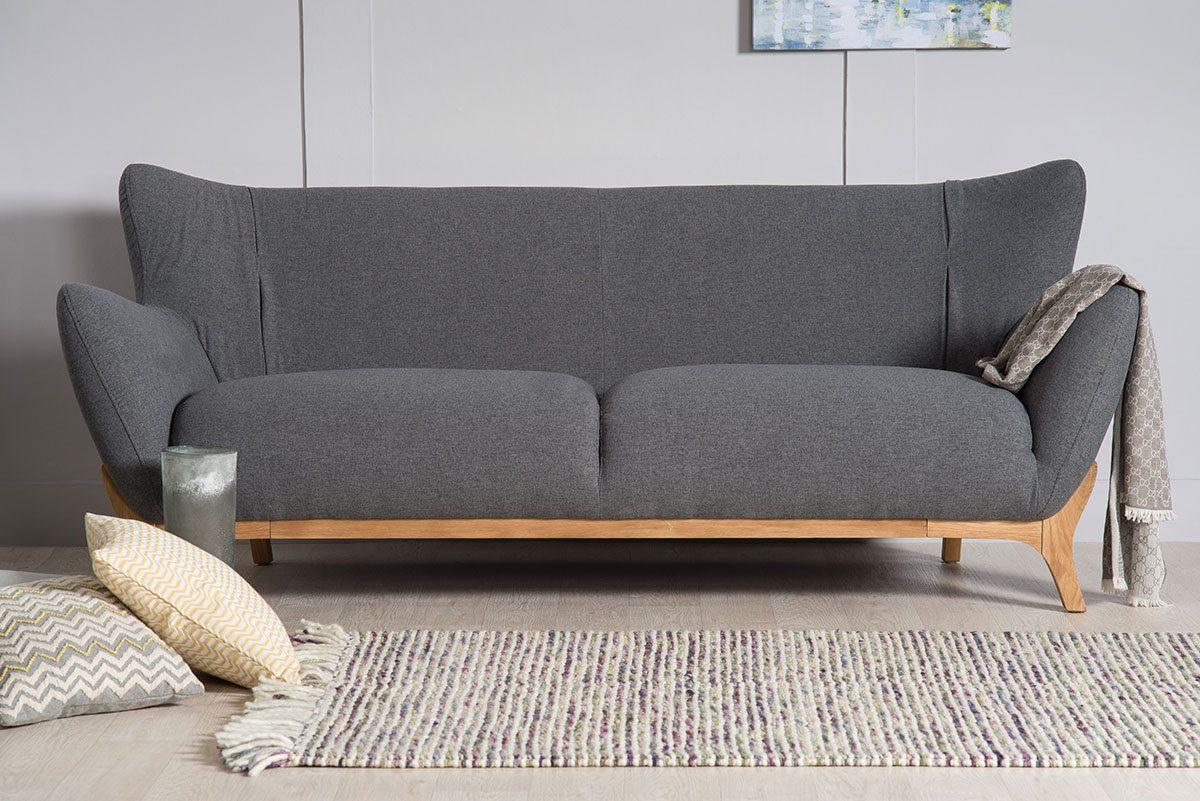 Wesley Dark Grey Three Seater Large Sofa | Bella Casa London Within London Dark Grey Sofa Chairs (Image 24 of 25)