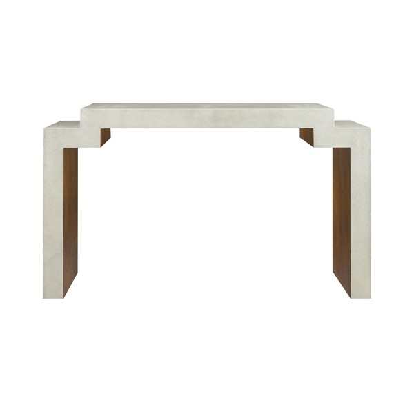 Westcott Large Faux Cream Shagreen Console Table With Interior Wood Throughout Well Known Faux Shagreen Console Tables (View 14 of 25)