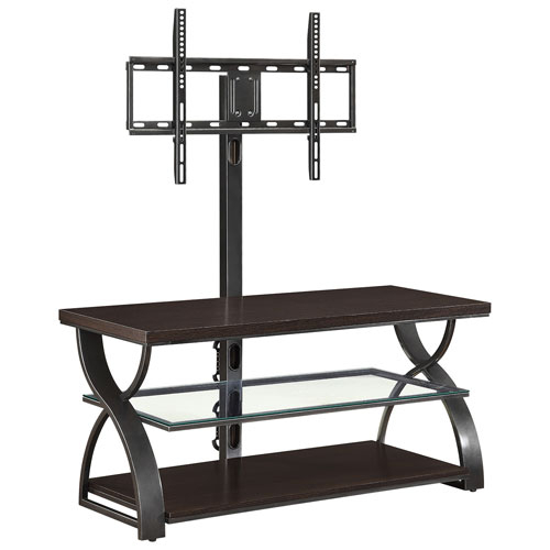 "Whalen 3 In 1 60"" Console Tv Stand – Medium Espresso : Tv Stands Intended For Preferred Valencia 60 Inch Tv Stands (View 25 of 25)"