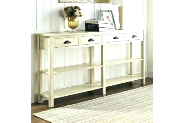 White Distressed Console Table Console Distressed Pale Blue White With Most Popular Antique White Distressed Console Tables (View 7 of 25)