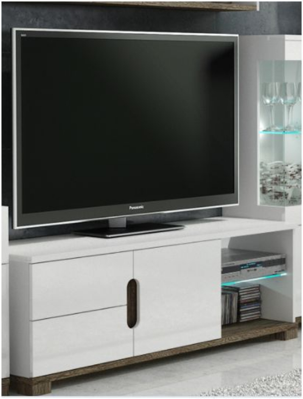 White Gloss Tv Display Unit With Lights – Tv Cabinets – Best Deal Pertaining To Widely Used Gloss White Tv Cabinets (Image 22 of 25)