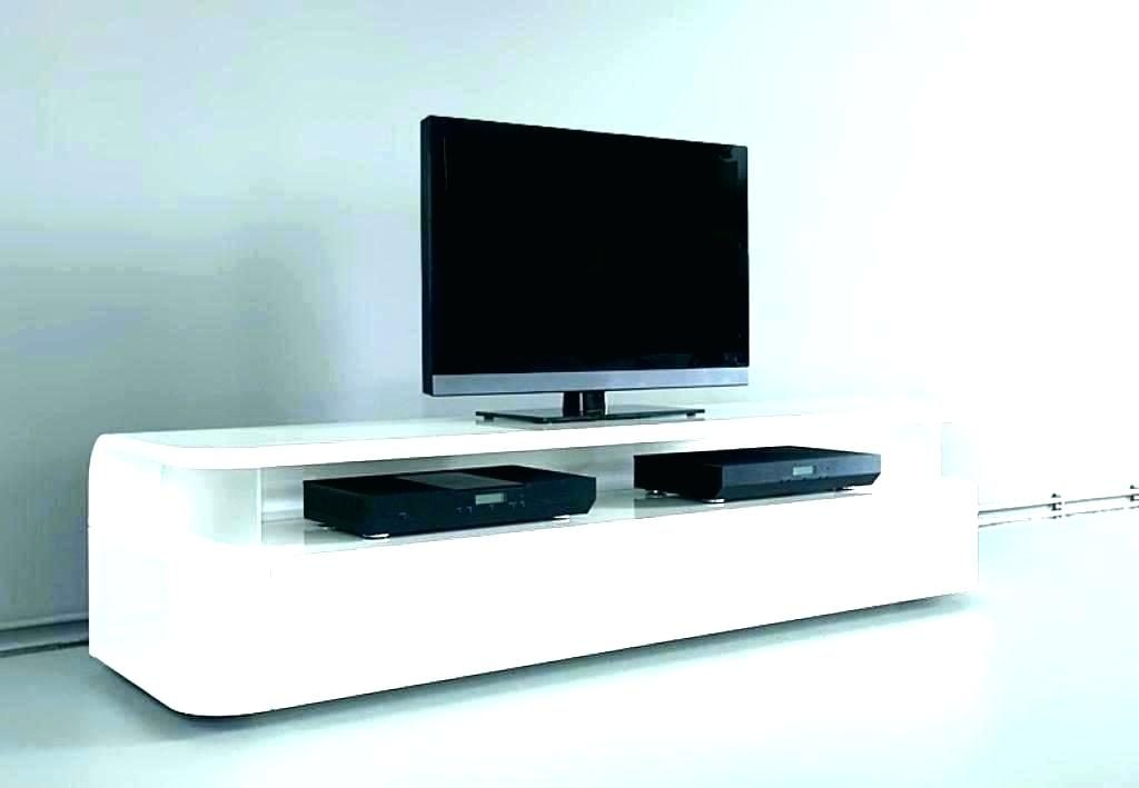 White High Gloss Floating Tv Unit With Led Lights Ebay Stand Units With Regard To Widely Used Cream High Gloss Tv Cabinet (Image 25 of 25)