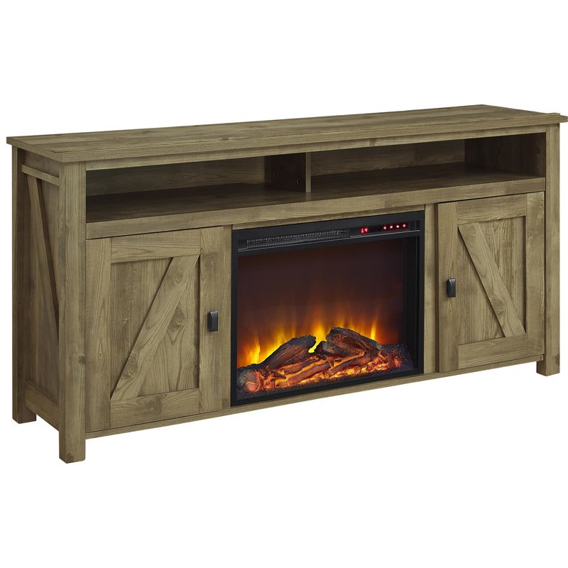 "Whittier Tv Stand For Tvs Up To 60"" With Fireplace & Reviews (Image 24 of 25)"