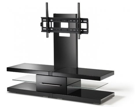 "Widely Used Echo Tv Unit Intended For Echo Black Cantilever Tv Unit For Tvs Up 60"" (Image 25 of 25)"