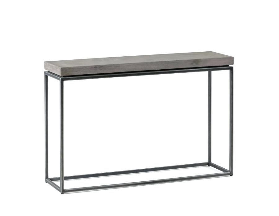 Widely Used Parsons Concrete Top & Brass Base 48X16 Console Tables Throughout Concrete Parsons Console Table — Terrariumtvshows (View 15 of 25)