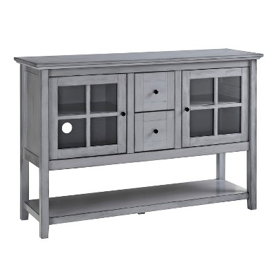 Widely Used Sinclair Grey 68 Inch Tv Stands Inside 52 Wood Console Table Buffet Tv Stand – Vintage Gray – Saracina Home (View 21 of 25)