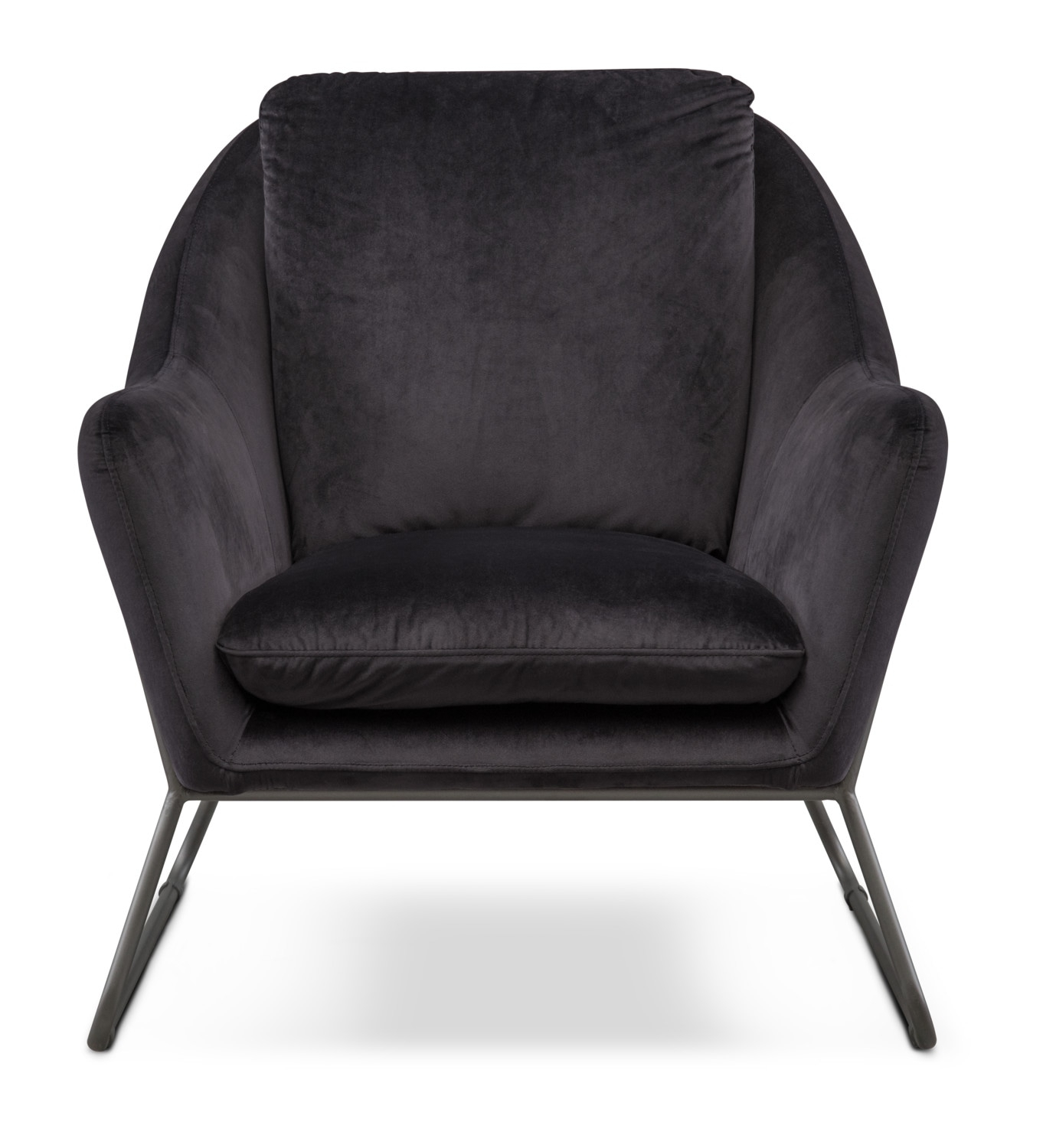 Willow Accent Chair – Black | American Signature Furniture Within Loft Black Swivel Accent Chairs (View 25 of 25)