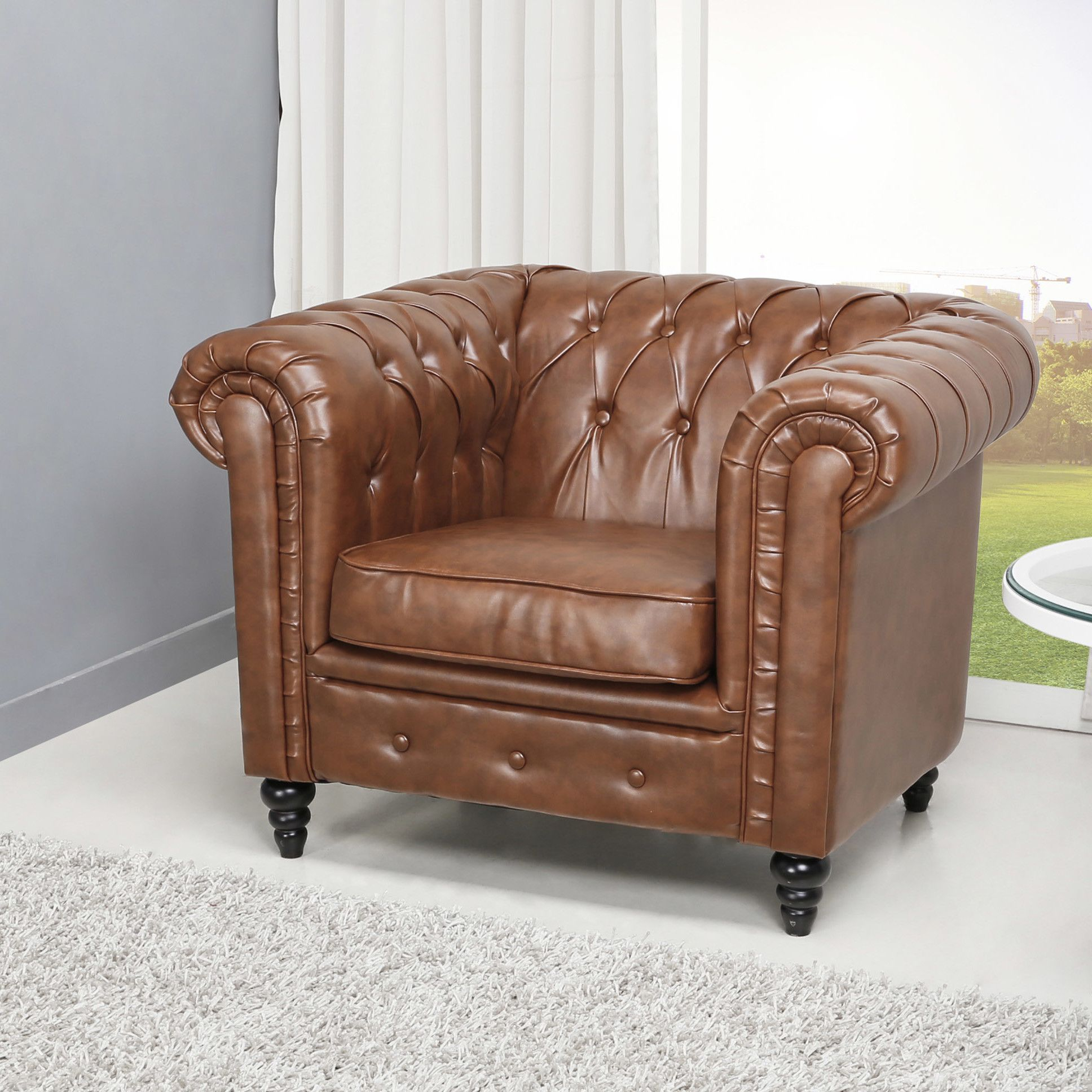 Wilmington Button Tufted Arm Chair | Products | Pinterest | Products In Twirl Swivel Accent Chairs (View 16 of 25)