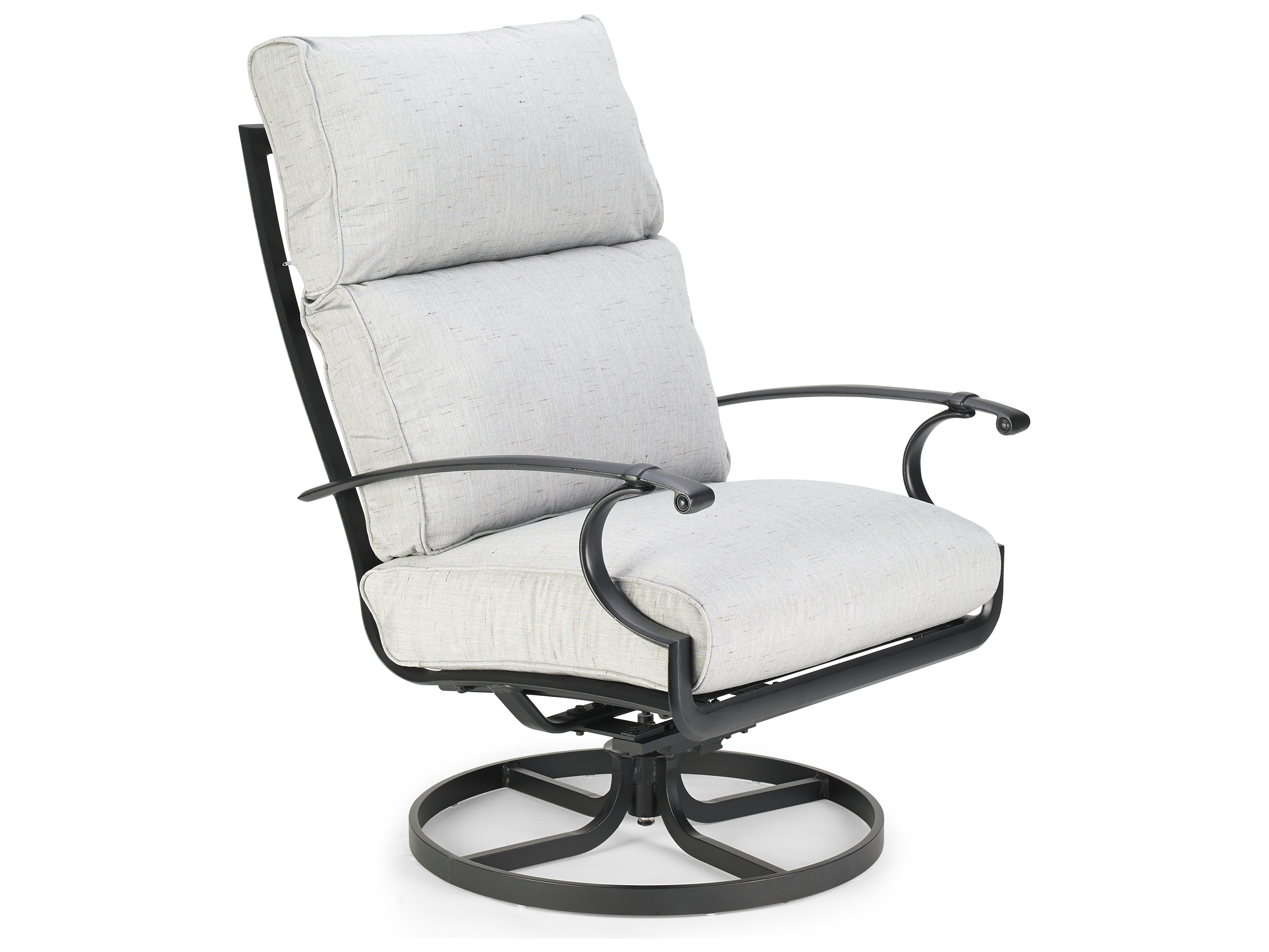 Winston Quick Ship Manor Deep Seating Cast Aluminum Ultra Swivel Regarding Manor Grey Swivel Chairs (Image 25 of 25)