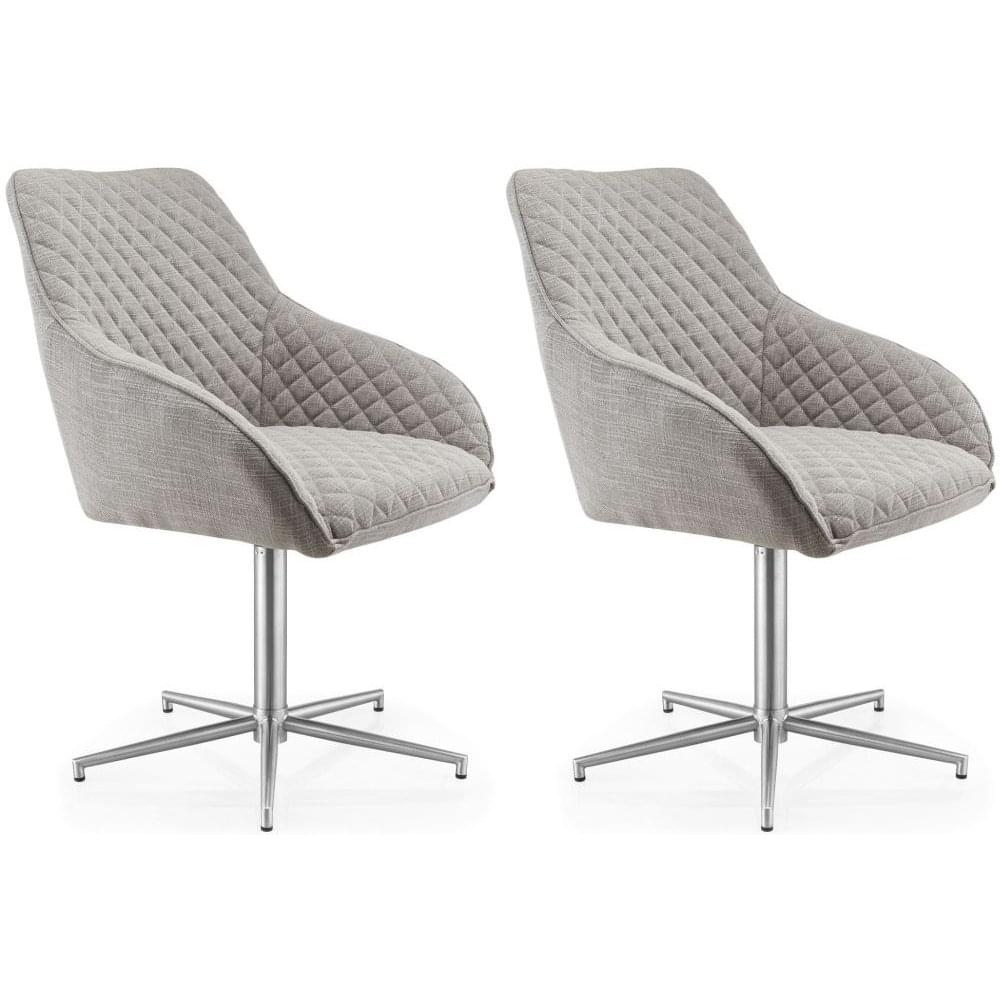 Wolf Grey Swivel Dining Chair (Pair) – Living Room From Breeze Regarding Grey Swivel Chairs (View 23 of 25)