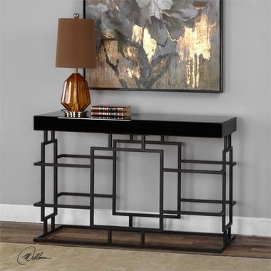 Wondering How To Use And How To Decorate A Console Table? Get Some Pertaining To Widely Used Parsons Grey Solid Surface Top & Dark Steel Base 48X16 Console Tables (Image 25 of 25)