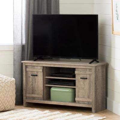 Wood – Corner Unit – Tv Stands – Living Room Furniture – The Home Depot Inside Most Recent Abbott Driftwood 60 Inch Tv Stands (Image 25 of 25)