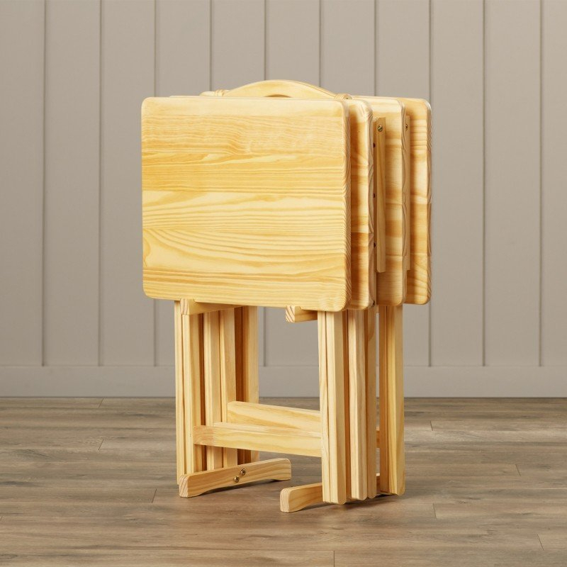 Wooden Folding Tv Trays – Ideas On Foter In Favorite Tv Tray Set With Stands (View 7 of 25)