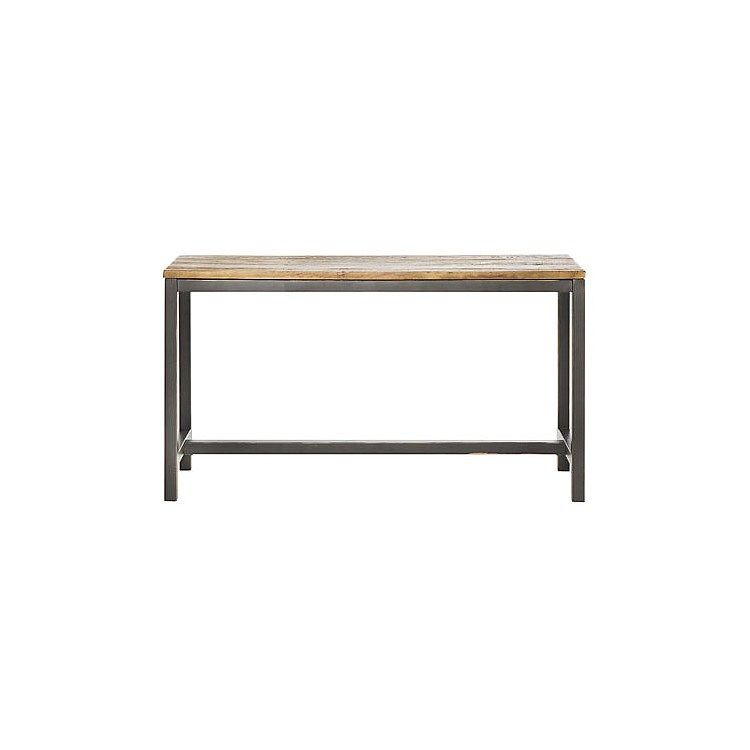 Worlds Away Clear Glass Tops 2 Tier Bronze Table Wa Domino Brz Within Most Up To Date Parsons Black Marble Top & Elm Base 48X16 Console Tables (Image 25 of 25)